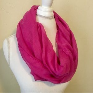 NWOT Hot Pink Infinity Scarf